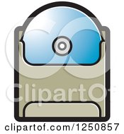Clipart Of A Blue Cd In A Sleeve Royalty Free Vector Illustration