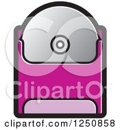Clipart Of A Cd In A Pink Sleeve Royalty Free Vector Illustration