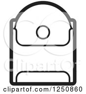 Clipart Of A Black And White Cd In A Sleeve Royalty Free Vector Illustration