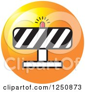 Clipart Of A Construction Road Block Icon Royalty Free Vector Illustration by Lal Perera