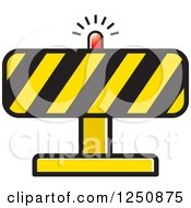 Clipart Of A Construction Road Block Royalty Free Vector Illustration