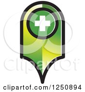 Clipart Of A Green Map Pointer Royalty Free Vector Illustration