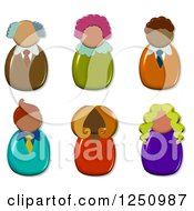 Clipart Of 3d Male And Female Avatars Royalty Free Illustration by Prawny