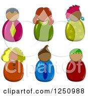 Clipart Of 3d Male And Female Avatars Royalty Free Illustration