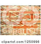 Clipart Of A Background Of Layered Union Jack Flags Royalty Free Illustration by Prawny