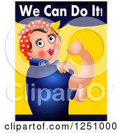 Clipart Of A Rosie The Riveter We Can Do It Parody Royalty Free Illustration by Prawny
