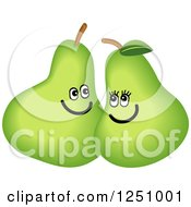 Clipart Of A Happy Pair Couple Smiling Royalty Free Illustration