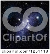 Clipart Of A Background Of A Starfield Royalty Free Illustration