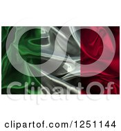 Clipart Of A 3d Crumpled Italian Flag Background Royalty Free Illustration