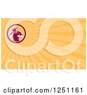 Clipart Of A Camera Man Business Card Design Royalty Free Illustration