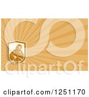 Clipart Of A Sea Captain Business Card Design Royalty Free Illustration by patrimonio