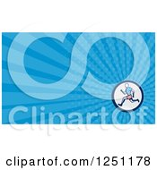 Clipart Of A Male Runner Business Card Design Royalty Free Illustration by patrimonio