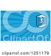 Clipart Of A Male Runner Business Card Design Royalty Free Illustration