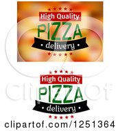 Clipart Of High Quality Pizza Delivery Text Royalty Free Vector Illustration
