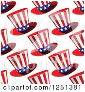 Clipart Of A Seamless Uncle Sam Top Hat Background Pattern Royalty Free Vector Illustration by Vector Tradition SM
