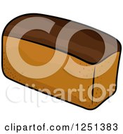 Clipart Of A Loaf Of Wheat Bread Royalty Free Vector Illustration