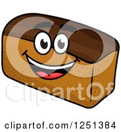 Clipart Of A Loaf Of Wheat Bread Character Royalty Free Vector Illustration