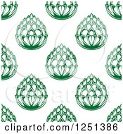 Clipart Of A Seamless Background Pattern Of Green Beer Hops Royalty Free Vector Illustration by Vector Tradition SM