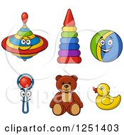 Clipart Of Baby Toys Royalty Free Vector Illustration by Vector Tradition SM