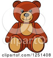 Clipart Of A Teddy Bear Baby Toy Royalty Free Vector Illustration by Vector Tradition SM