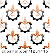 Clipart Of A Seamless Wheat Background Pattern Royalty Free Vector Illustration