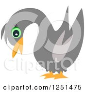 Clipart Of A Black Swan Royalty Free Vector Illustration by bpearth