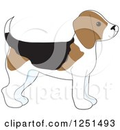 Clipart Of A Cute Beagle Puppy Dog In Profile Royalty Free Vector Illustration