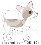 Clipart Of A Cute Chihuahua Puppy Dog In Profile Royalty Free Vector Illustration