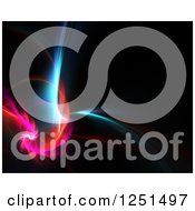 Clipart Of A Spiraling Glowing Pink Red And Blue Fractal Background Royalty Free Illustration