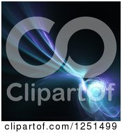Clipart Of A Purple And Blue Abstract Fractal Background Royalty Free Illustration
