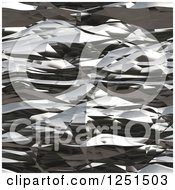 Clipart Of A Seamless Abstract Wrinkled Aluminum Foil Texture Royalty Free Illustration