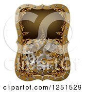 Clipart Of A Steampunk Clock Work Heart With Gears Royalty Free Vector Illustration