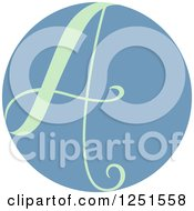 Clipart Of A Round Blue Circle With Capital Letter A Royalty Free Vector Illustration by BNP Design Studio