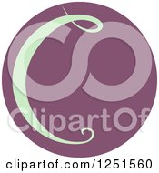 Clipart Of A Round Purple Circle With Capital Letter C Royalty Free Vector Illustration