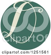 Clipart Of A Round Green Circle With Capital Letter D Royalty Free Vector Illustration