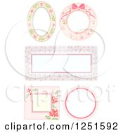 Clipart Of Shappy Chick Floral Frames Royalty Free Vector Illustration