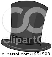 Clipart Of A Top Hat Royalty Free Vector Illustration by BNP Design Studio