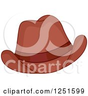 Clipart Of A Cowboy Hat Royalty Free Vector Illustration