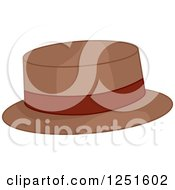Clipart Of A Boater Hat Royalty Free Vector Illustration