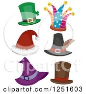 Clipart Of Holiday Hats Royalty Free Vector Illustration by BNP Design Studio