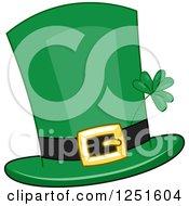 Clipart Of A St Patricks Day Leprechaun Hat Royalty Free Vector Illustration