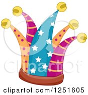 Clipart Of A Patterned Jester Hat Royalty Free Vector Illustration by BNP Design Studio