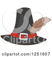 Clipart Of A Pilgrim Hat Royalty Free Vector Illustration by BNP Design Studio