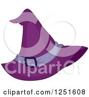 Clipart Of A Halloween Purple Witch Hat Royalty Free Vector Illustration