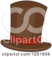 Clipart Of A Brown Top Hat Royalty Free Vector Illustration by BNP Design Studio