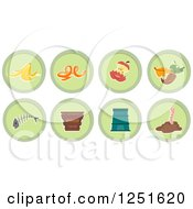 Clipart Of Round Green Composing Icons Royalty Free Vector Illustration by BNP Design Studio