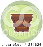 Clipart Of A Round Green Composing Bin Icon Royalty Free Vector Illustration by BNP Design Studio