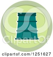 Clipart Of A Round Green Vermiposting Composing Icon Royalty Free Vector Illustration by BNP Design Studio