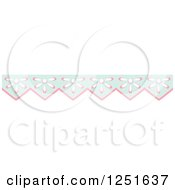 Clipart Of A Shappy Chic Pink Amd Blue Flower Rule Border Royalty Free Vector Illustration