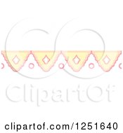Clipart Of A Shappy Chic Yellow And Pink Rule Border Royalty Free Vector Illustration